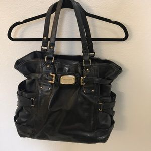Michael Joe's black tote with lots of pockets